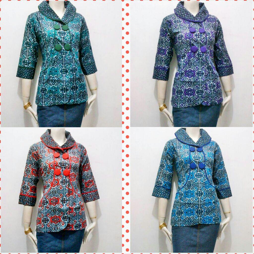 Fashion Tren Model Baju Batik Kantor 2016 dan 2017