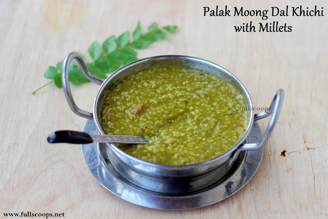 Palak Moong Dal Khichi with Millets