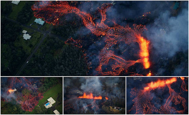 (Gambar, Video) Suasana Mengerikan Bencana Letusan Gunung Berapi Di Pulau Hawaii, Ribuan Penduduk Diarahkan Berpindah