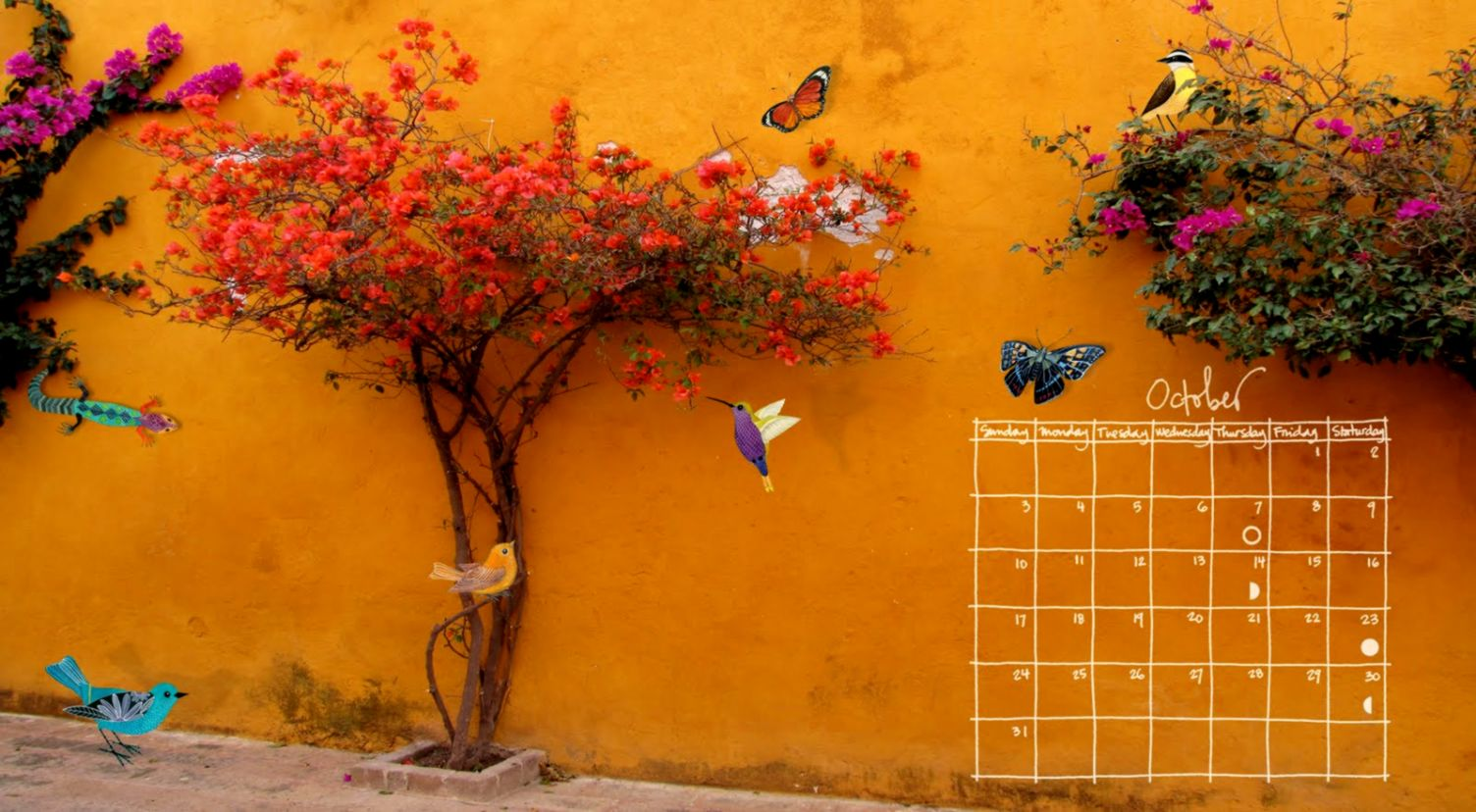 October Calendar High Resolution wallpaper holidays Wallpaper