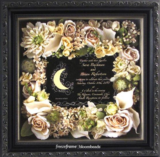 Shadowbox Of Preserved Wedding Flowers Www Freezeframeit
