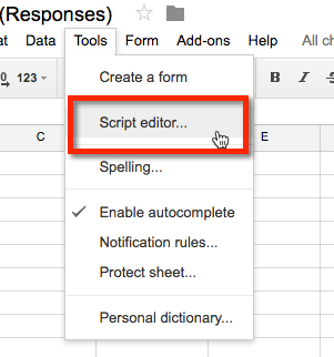 Google Script Automatic Invoice Numbering - Create google sheet