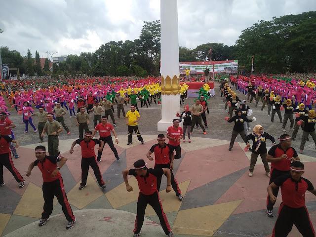 Pj Bupati Bone dan Ketua DPRD Bone Apresiasi Senam Gemu Fa Mi Re Yang Dipelopori Korem 141/Tp