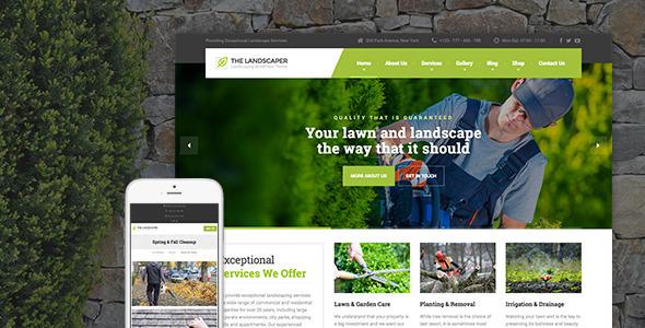 jasa pembelian The Landscaper - Lawn & Landscaping WP Theme