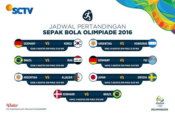 Jadwal Sepakbola Olimpiade di SCTV