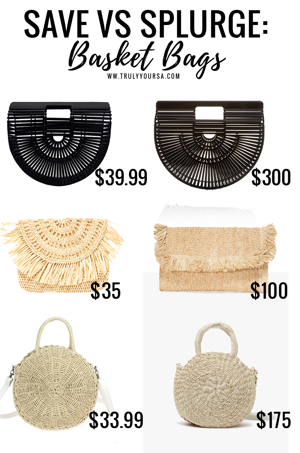It seems like everybody's favorite blogger had a basket handbag last year. I know all of mine did! Be prepared to see them on your feed again this year in all shapes and sizes. They add the perfect touch of fun to any spring (or summer) outfit, so why not get for yourself. I've rounded up a few affordable options for the basket handbags that you will see all over Instagram this season!