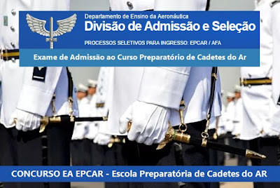 Aberto Concurso EA CPCAR 2018 para Cadetes do Ar - CPCAR