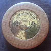 Wooden 40 year calendar from Timber Treasures