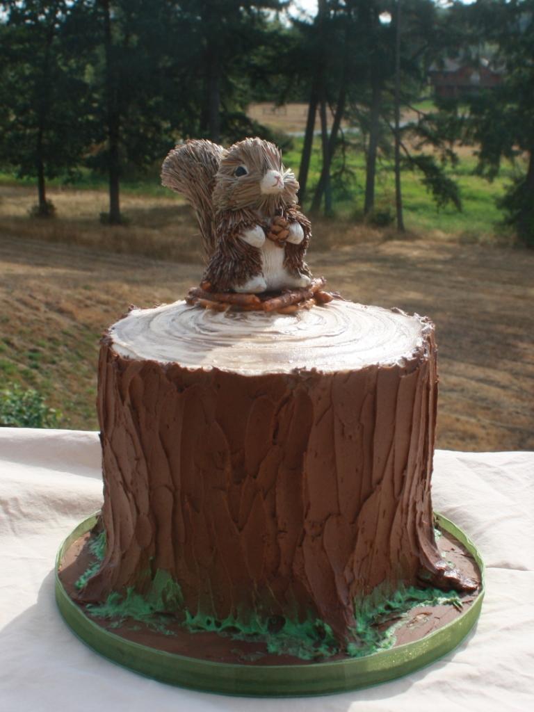 Party Cakes: Woodland Tree Stump Cake