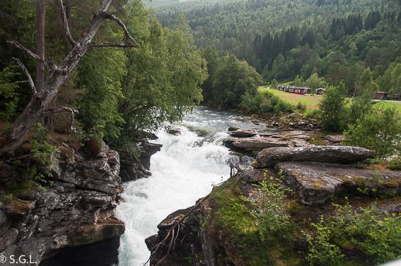 Cañón Gudbrandsjuvet en Valldal. Noruega