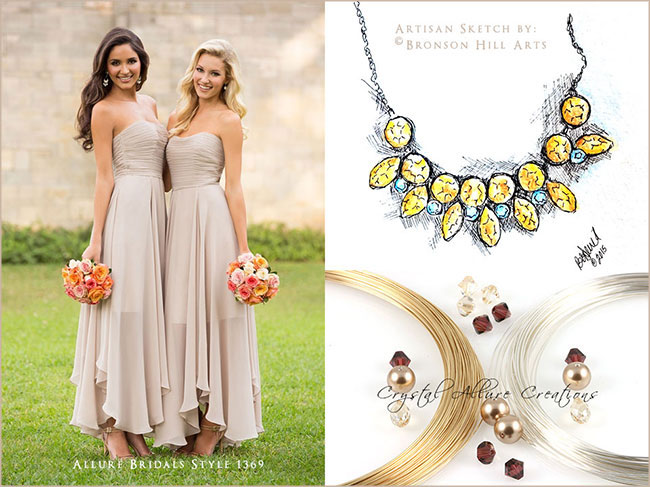 Custom Wedding Jewelry details for Summer Bride in Burgundy Champagne | Crystal Allure Beaded Jewelry Creations