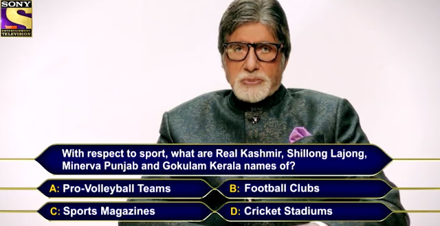 With respect to sport, what are Real Kashmir, shillong Lajong, Minerva Punjab and Gokulam Kerla names of?
