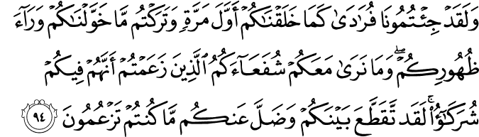 Surat Al-An'am Ayat 94