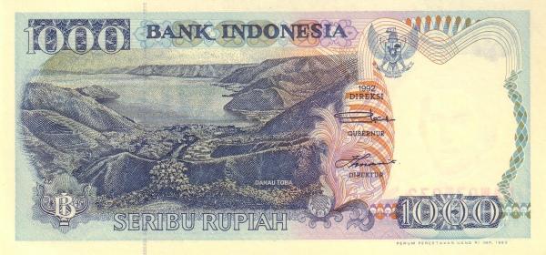 seribu rupiah 1992 depan