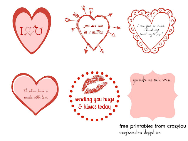 Free Printable Love Lunch Notes