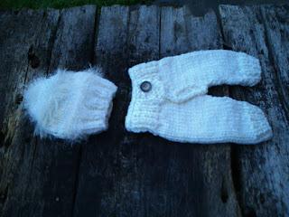 conjunto de gorro e calça tricotados para recem nascido