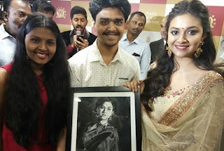 Keerthy Suresh with Fans 1