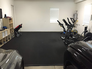 Greatmats rubber flooring garage gym exercise room