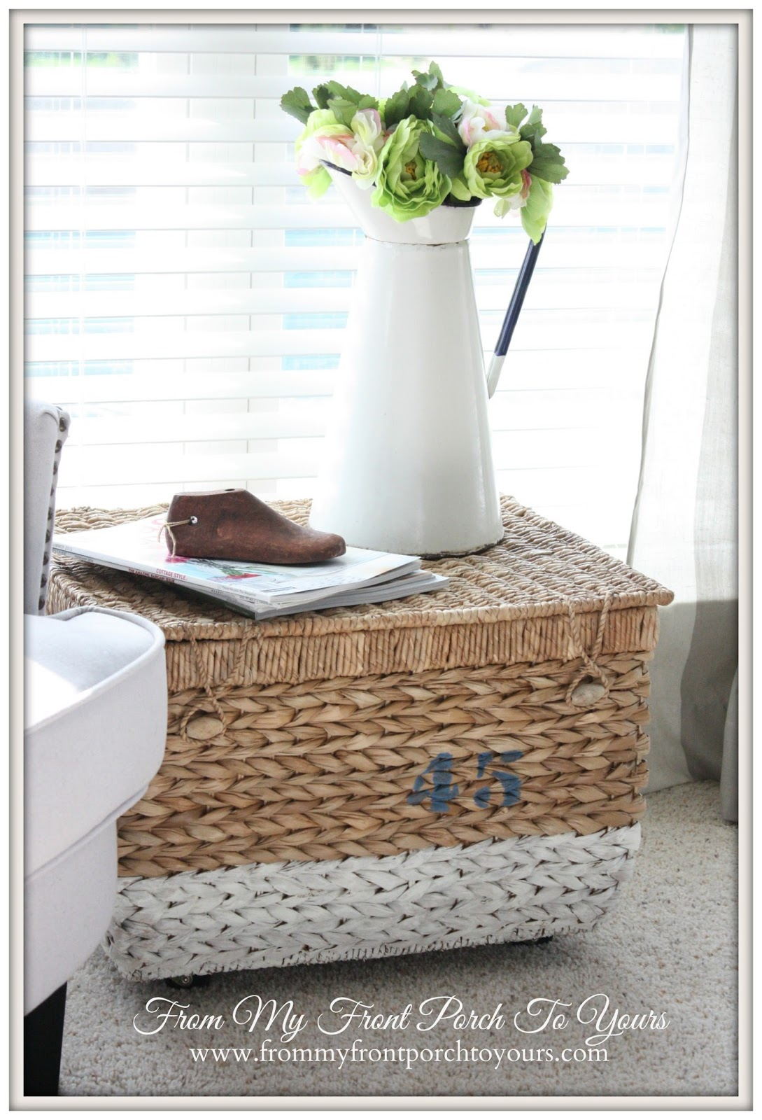From My Front Porch To Yours- DIY Basket Side Table
