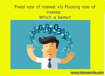 What are fixed and floating rates of interest?