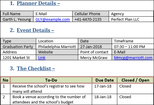 Event Planning Checklist Template, Event Planning Checklist Template Word