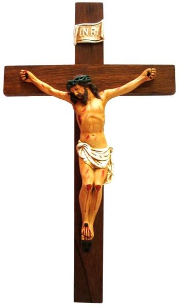 Imagen de Jesús crucificado o Jesús en la cruz a colores