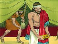 Исус прати хора, които се завтекоха в шатъра.