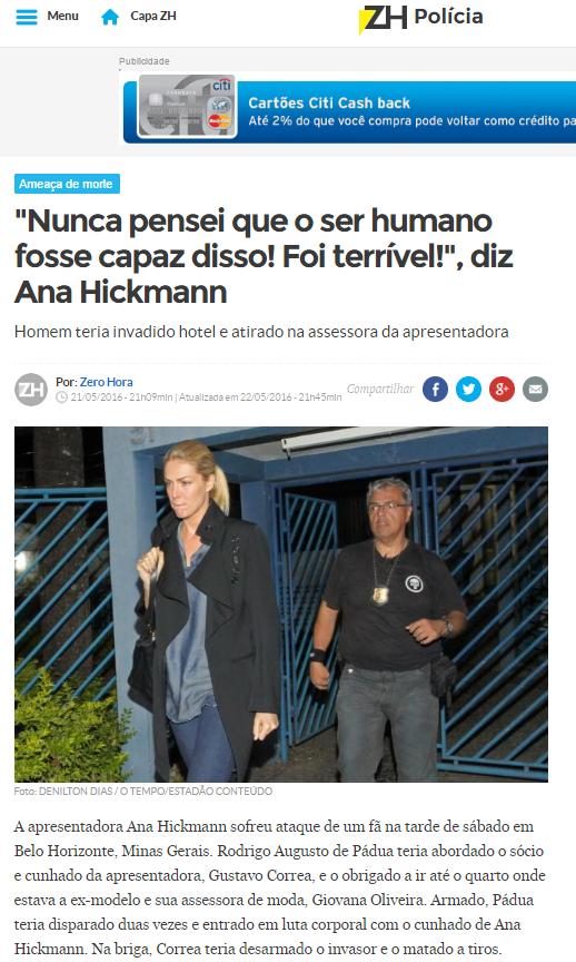 0b9dbbe7db213 Recentemente fomos todos surpreendidxs com o que aconteceu com a  apresentadora Ana Hickmann. Um caso clássico de stalking!
