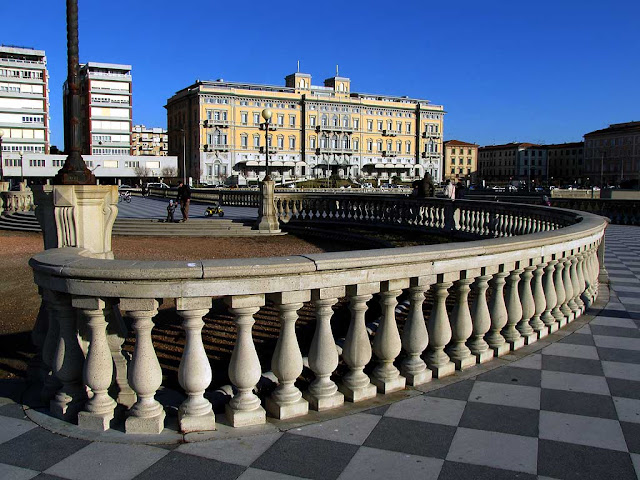 The Grand Hotel Palazzo seen from the Terrazza Mascagni, Livorno