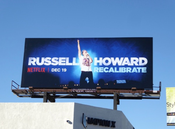 Russell Howard Recalibrate billboard