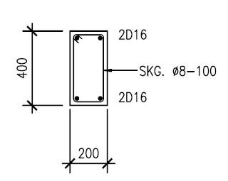 Balok Beton Bertulang 20x40