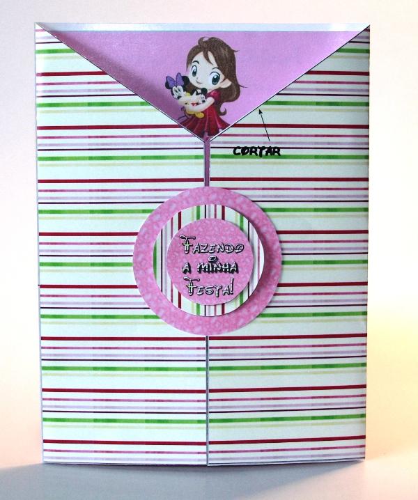 5be36bc4e3 Você também pode decorar a parte de trás do envelope  Este convite ...