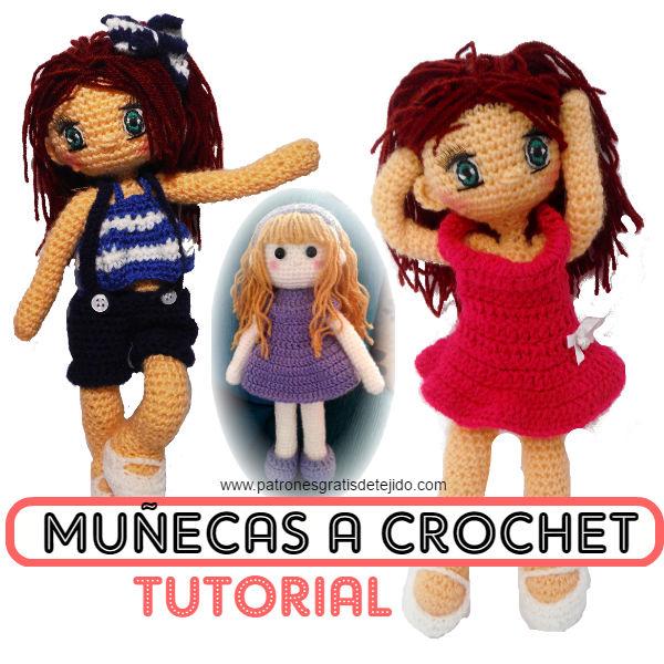 Cómo Tejer Muñecas a Crochet / Tutorial Amigurumi | Crochet y Dos ...