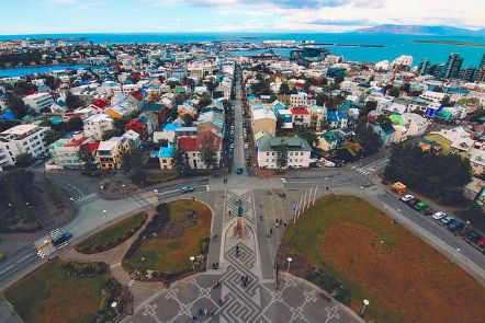 Reykjavik vista dalla torre campanaria