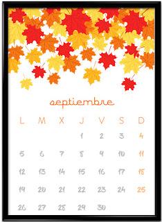 Calendario septiembre vertical