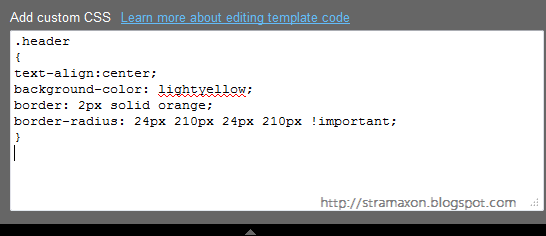 adding custom css in blogger template designer