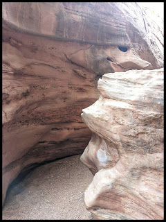 Crazy S shape in the Walls of Wild Horse Slot Canyon