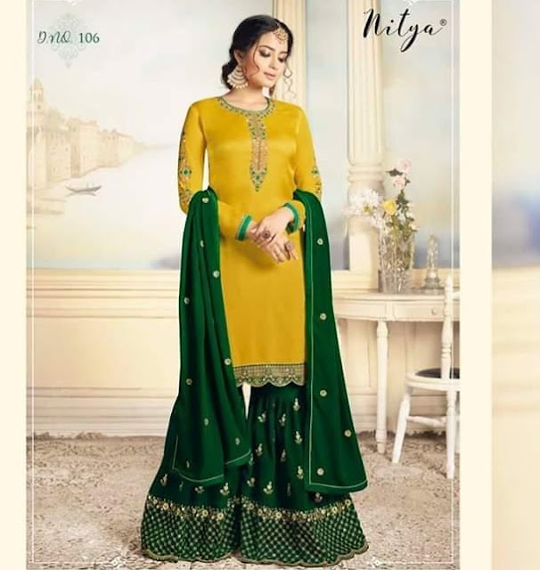 LT Nitya Sharara Georgette pakistani Suits Latest Design wholesale