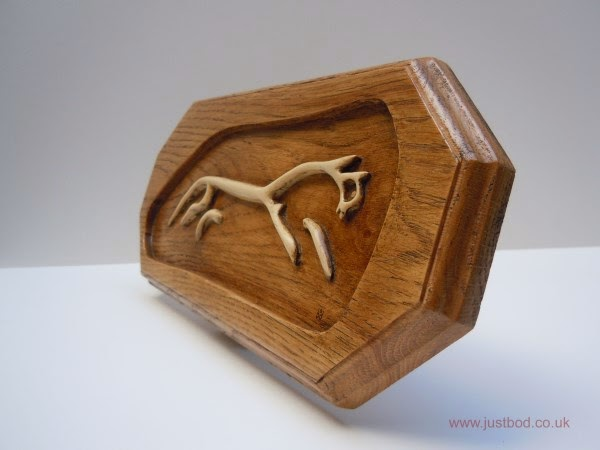 Uffington Horse wood carving