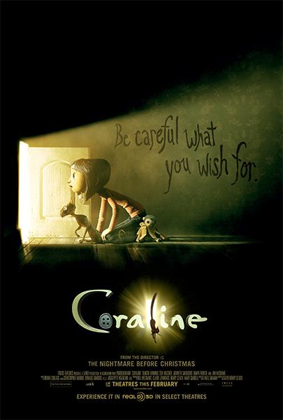 Coraline y la puerta secreta (HD 1080P y Español- Inglés 2009) poster box code