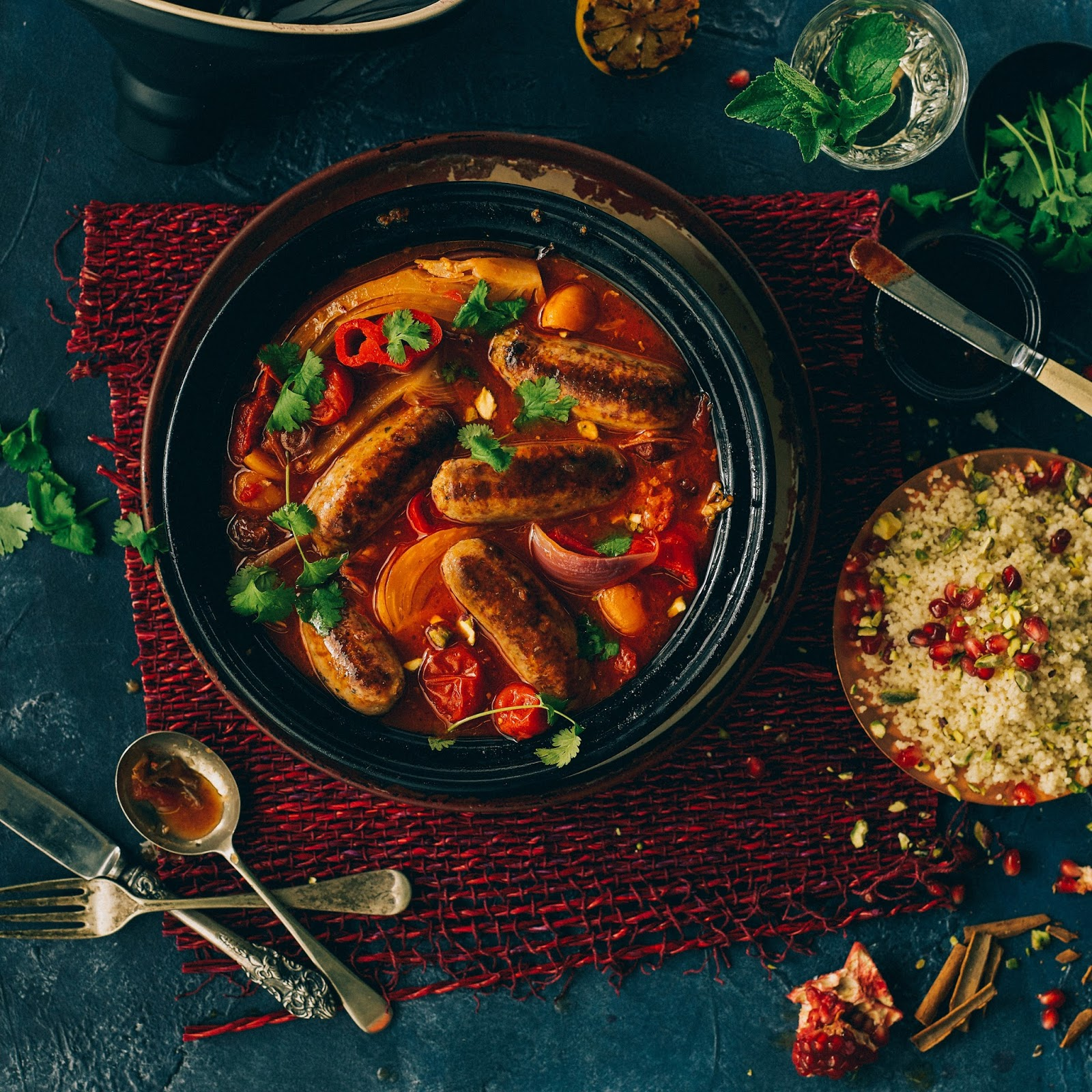 Moroccan Sausage And Pepper Tagine