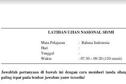 Download Soal dan Kunci Jawab Bahasa Indonesia US SD Terbaru Tahun 2017 / 2018