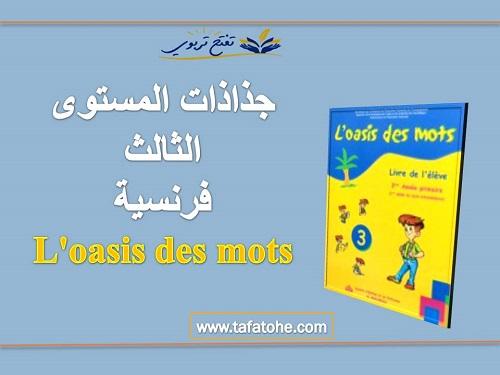 جذاذات المستوى الثالث فرنسية l'oasis des mots