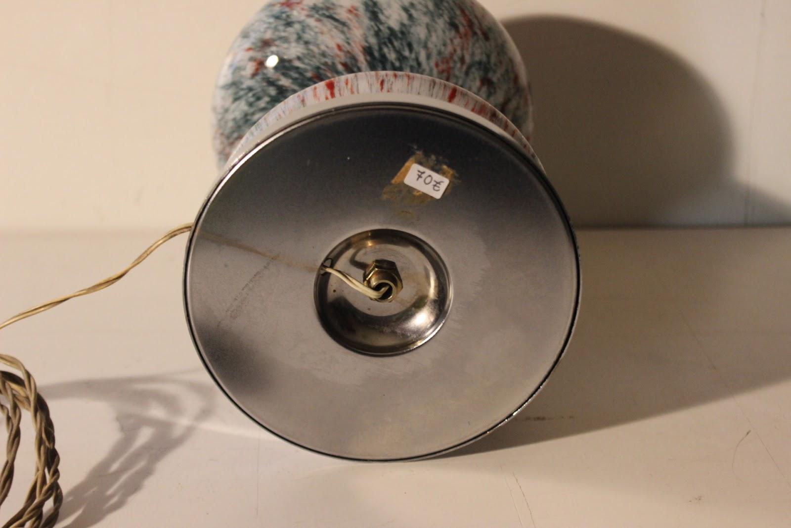 lampada da tavolo a fungo anni 70 : SPLENDIDA MODERNARIATO LAMPADA DESIGN ITALIANO FUNGO VETRO MURANO ANNI '70 Piccola lampada da ...