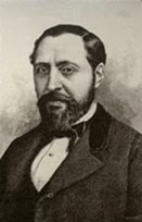 Retrato de Barbieri, luciendo barba y bigote.