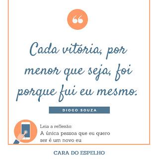 Quote Frase Reflexão - Cara do Espelho