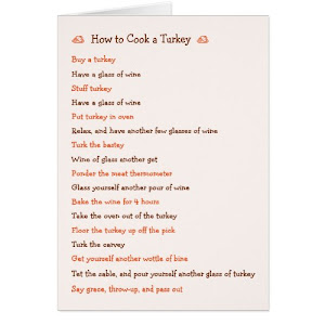How To Cook a Turkey | Funny Recipe Card