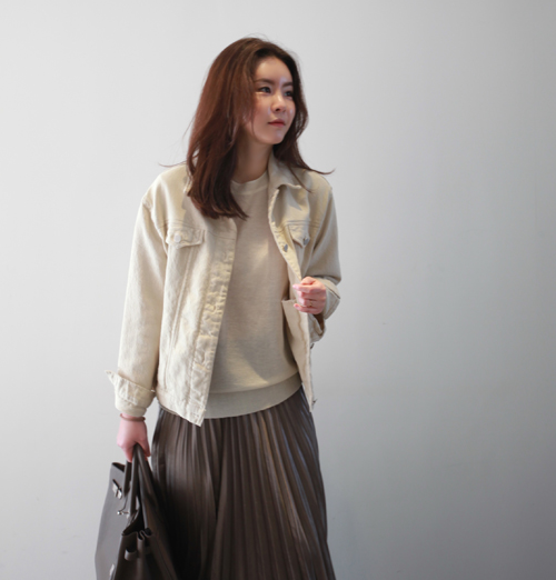 Side Pocket Button Sleeve Cotton Jacket