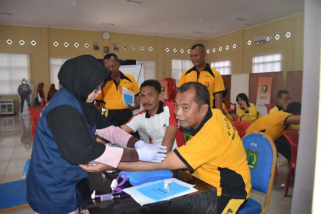 350 Anggota Polri Polres Muba Lakukan Pemeriksaan Kesehatan