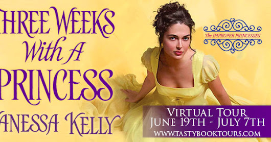 **Giveaway** Three Weeks With A Princess by Vanessa Kelly **Author Q&A**